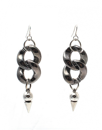 Bold Chain Cone Earring