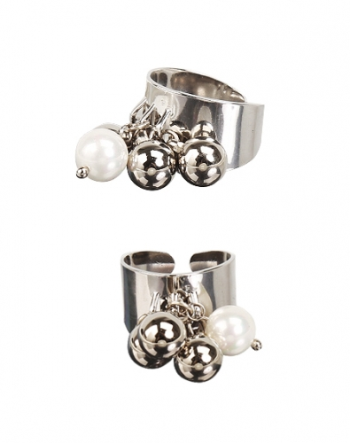 Pearl Silver Bubble Ring