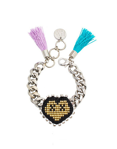 XOXO Heart chain bracelet
