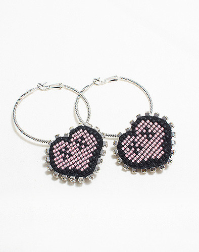 XOXO Heart round earring_PK