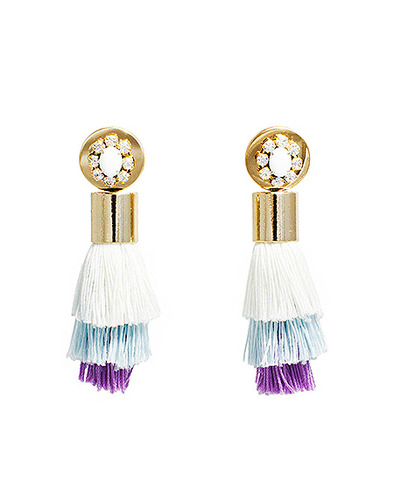 Big tassel boutique earring