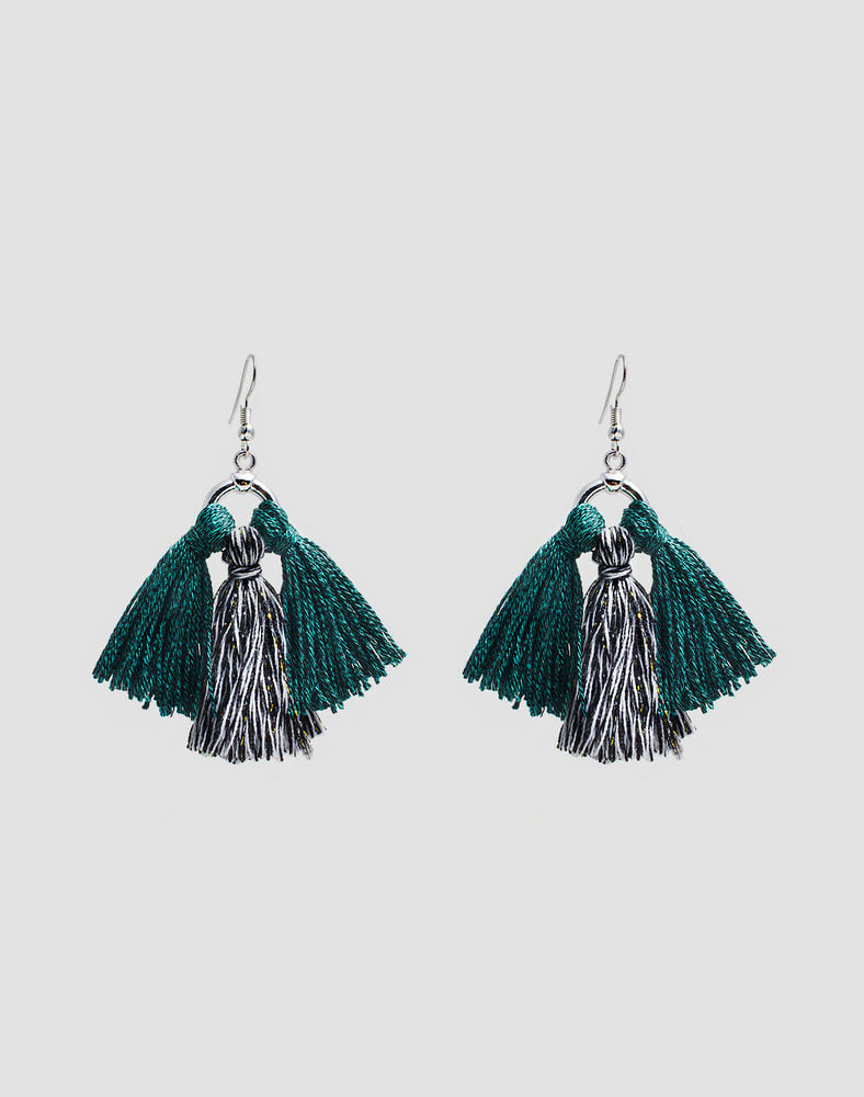 Mix tassel earring_GR