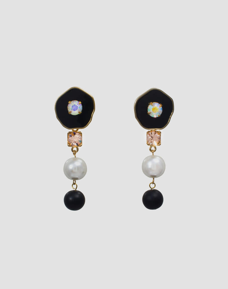 Crystal gemstone drop earring