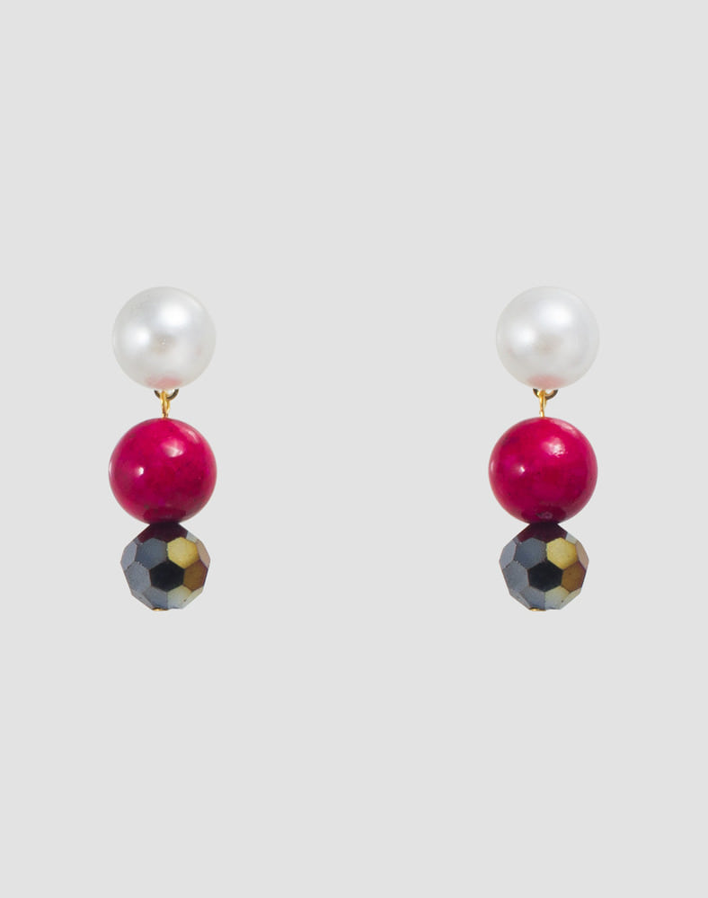 Mini ball drop earring