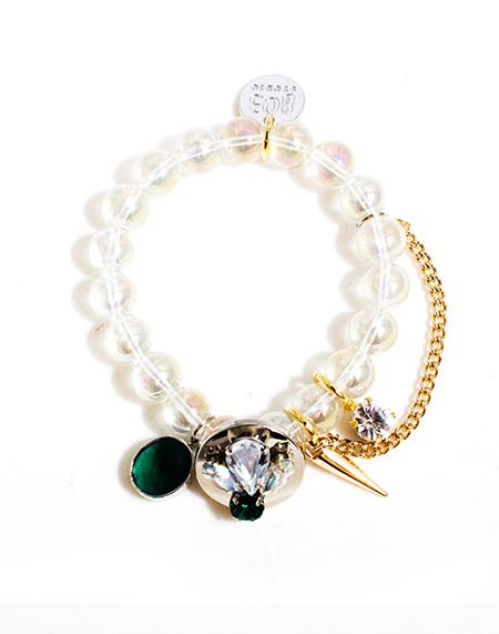 ARM CANDY Crystal Limpid Bracelet_Green