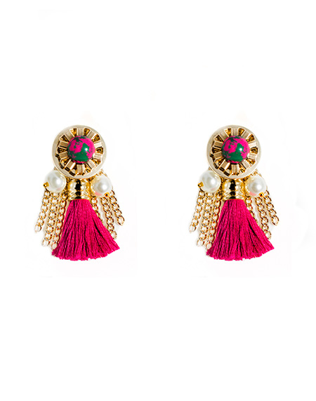 Pink Tassel Boutique earring