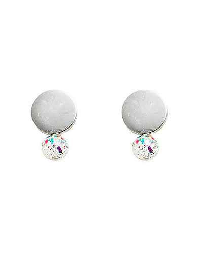 mix painted drop earring