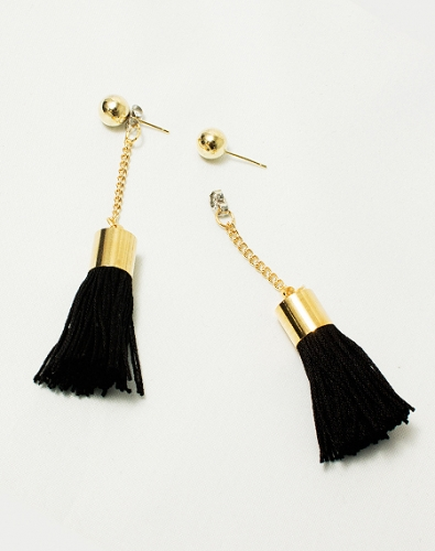 Ball Tassel Earring_Gold