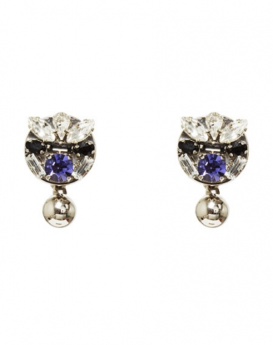 Crystal mini ball earring