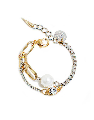 Pearl chain mix bracelet