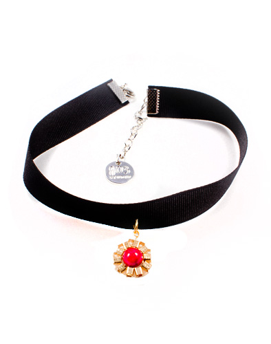 Choker_Daisy_red gold