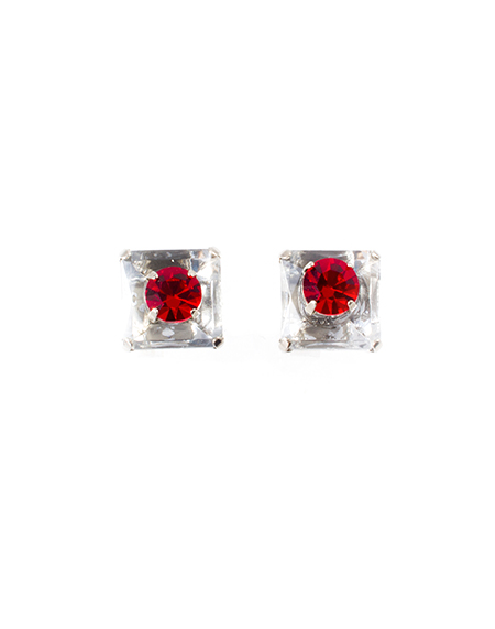 red square earring