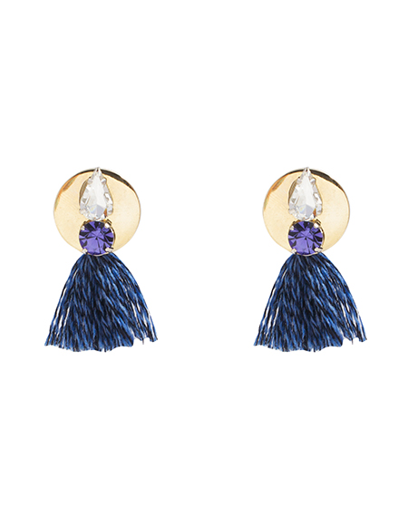 Violet crystal tassel ear