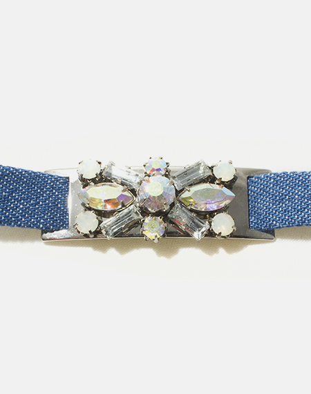 Crystal Denim Bracelet